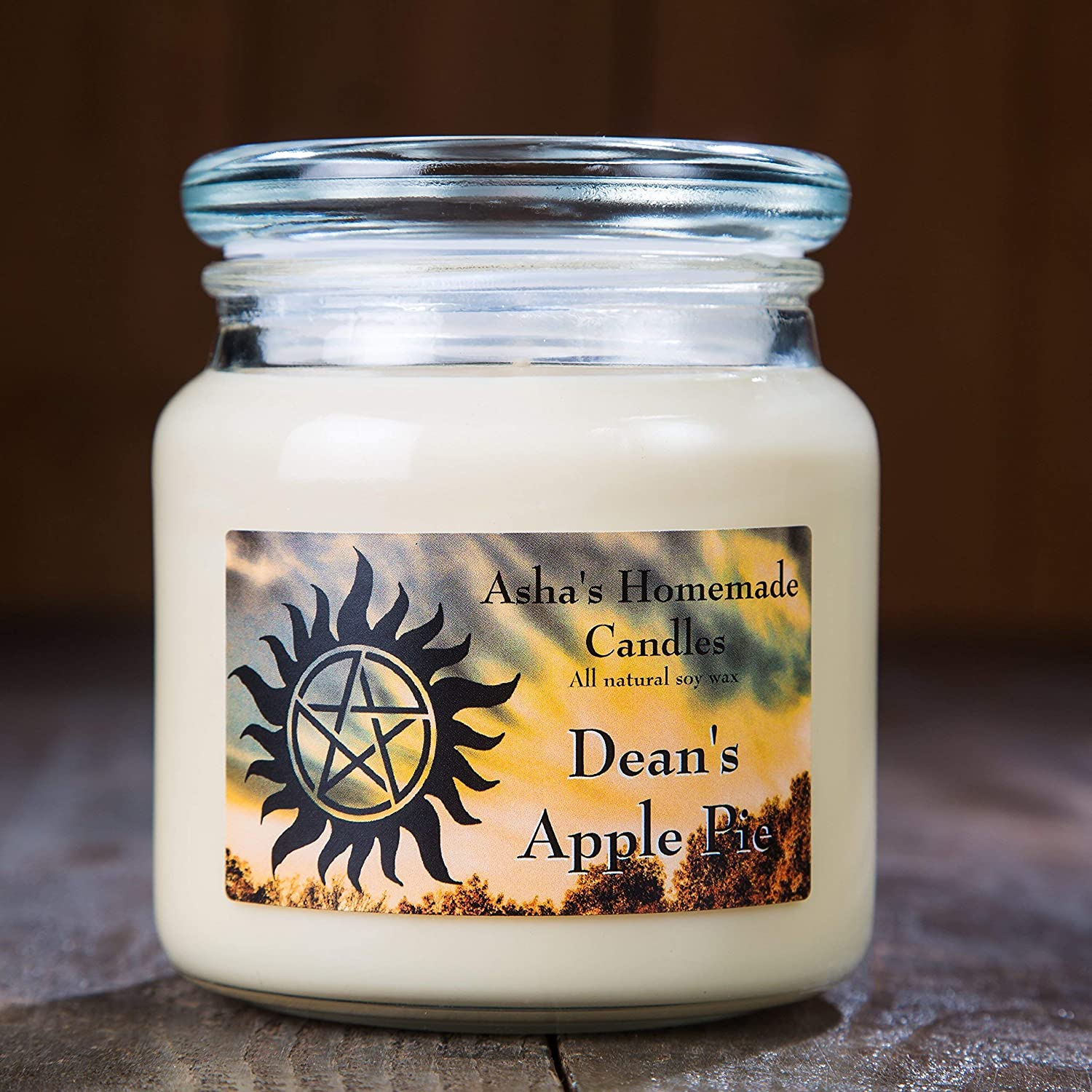 Supernatural Soy Candle - Dean's Apple Pie - 16 oz. - Fandom Candle