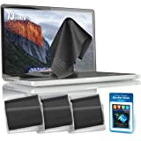 "Clean Screen Wizard Microfiber Screen Keyboard Covers, Screen Protectors and Cleaner Kit, 4 PACK (3 XL Cleaning Cloths/Keyboard Covers & Microfiber Sticker for MacBook Pro 13 Air 13-Laptops 13"" Screen"
