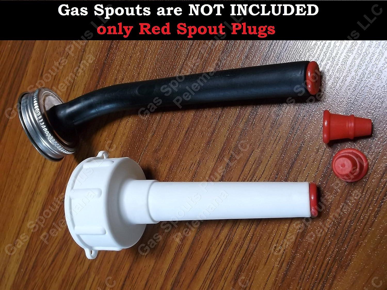 2-Pk EAGLE SPOUT PLUGS New Red Repl Replica for Eagle Rubber /& Rigid Gas Spouts