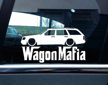 Lowered Mercedes W124 / T124 E-Class estate WAGON MAFIA car
