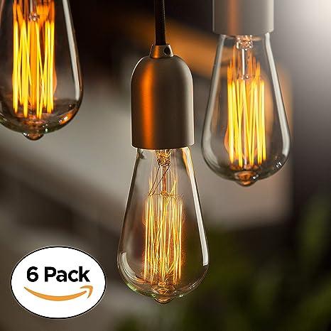 Edison Bulb (6 Pack) | Vintage Incandescent Light Bulbs For Home Office  Lighting
