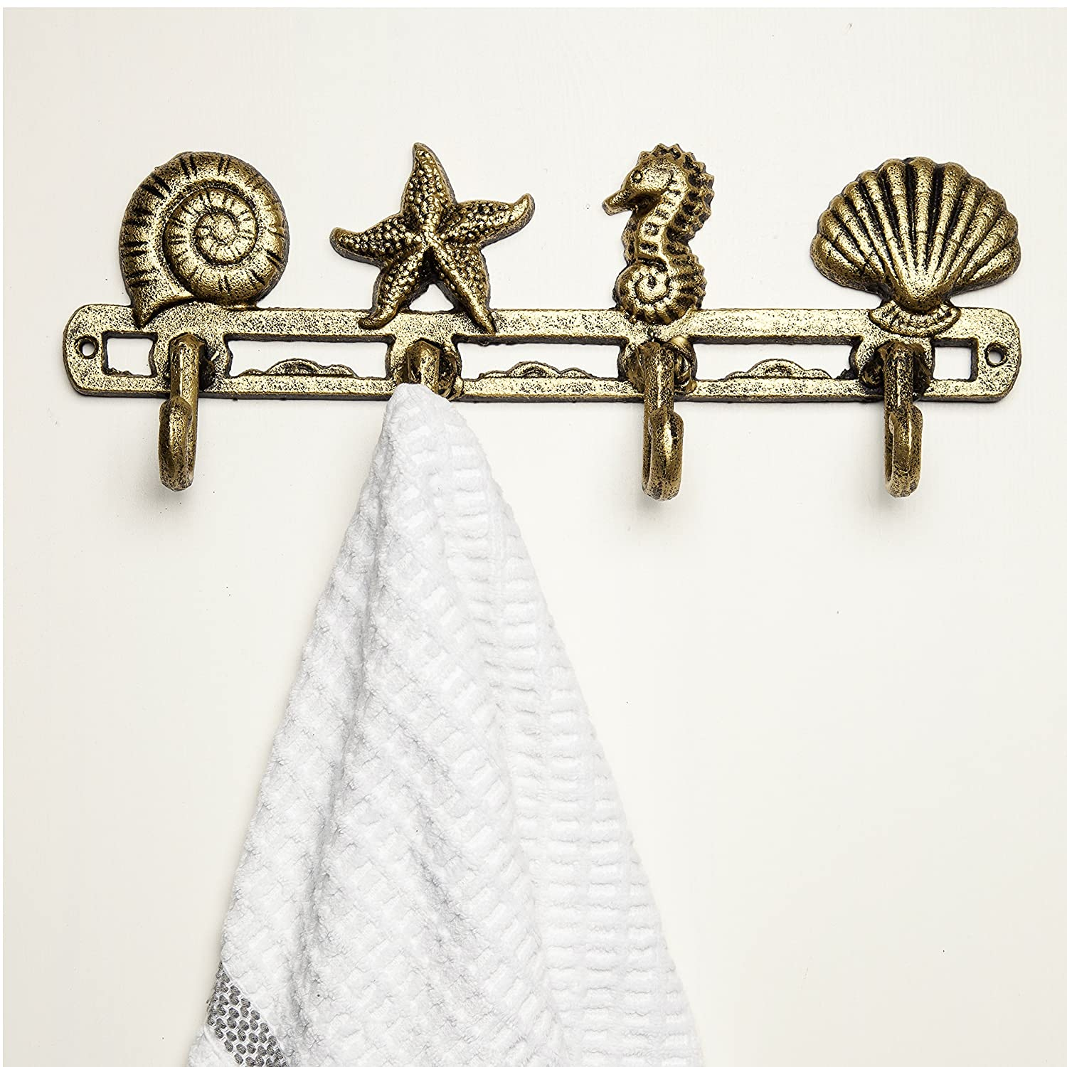 Vintage Seashell Coat Hook Hanger