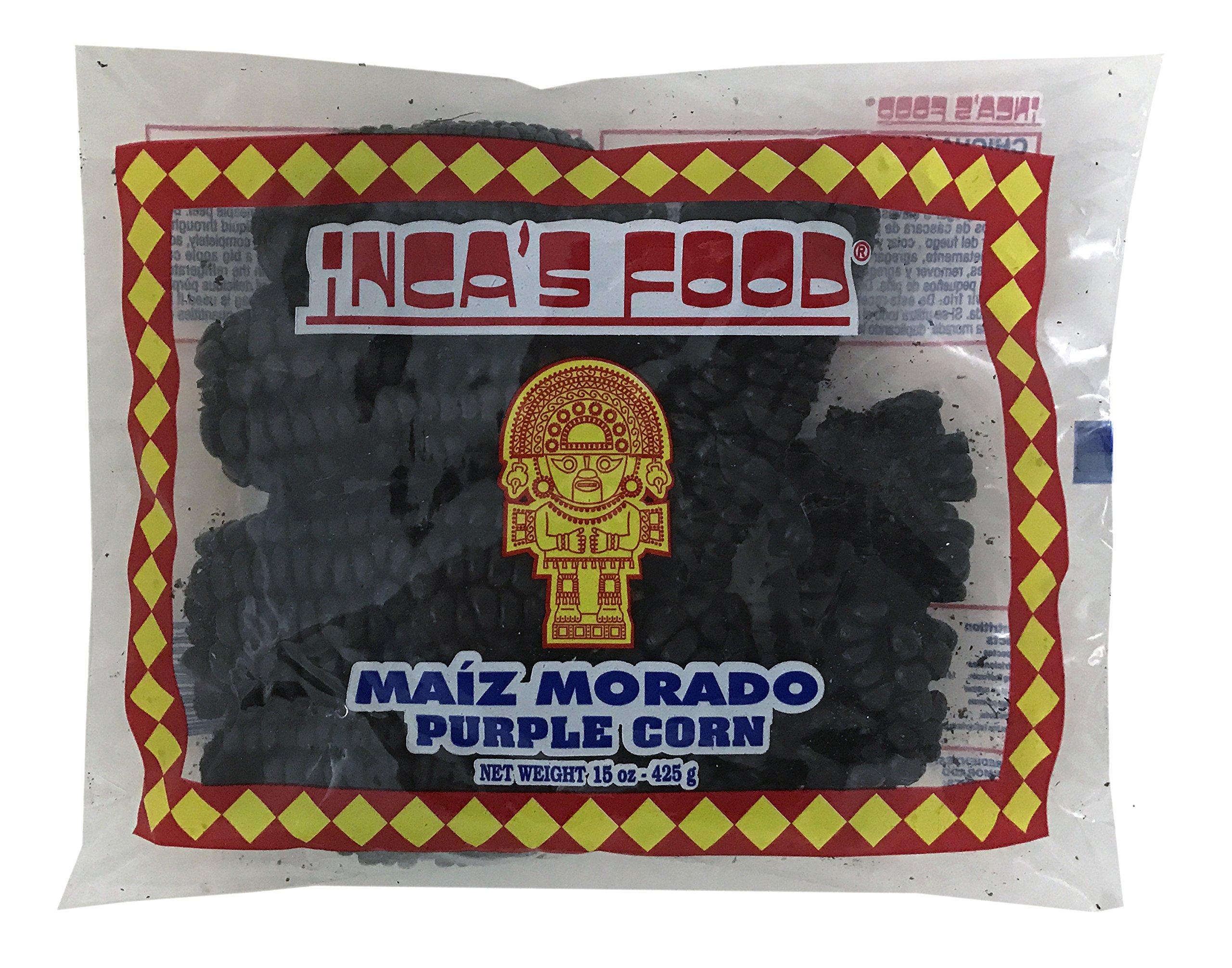 Inca's Food Maiz Morado - Purple Corn Cob - 15 Oz. (3-Pack)