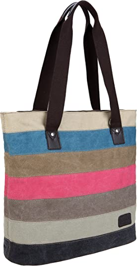 IDAILU Large Canvas Tote Bag Casual Daily Cross-body Hobo Handbags with Detachable Shoulder Strap