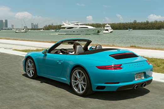 Amazon.com: Porsche 911 Carrera S (991) Cabriolet (2017) Car Print on 10 Mil Archival Satin Paper Blue Front Side Static View 16