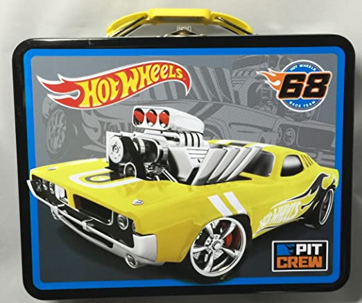 Hot Wheels Racing en relieve lata caja de almuerzo: Amazon.es: Hogar