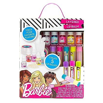 Barbie Make Your Own Layered Lip Balm Kit By Horizon Group Usa Diy 5 Custom Lip Balms By Mixing Flavors Like Vanilla Strawberry Watermelon