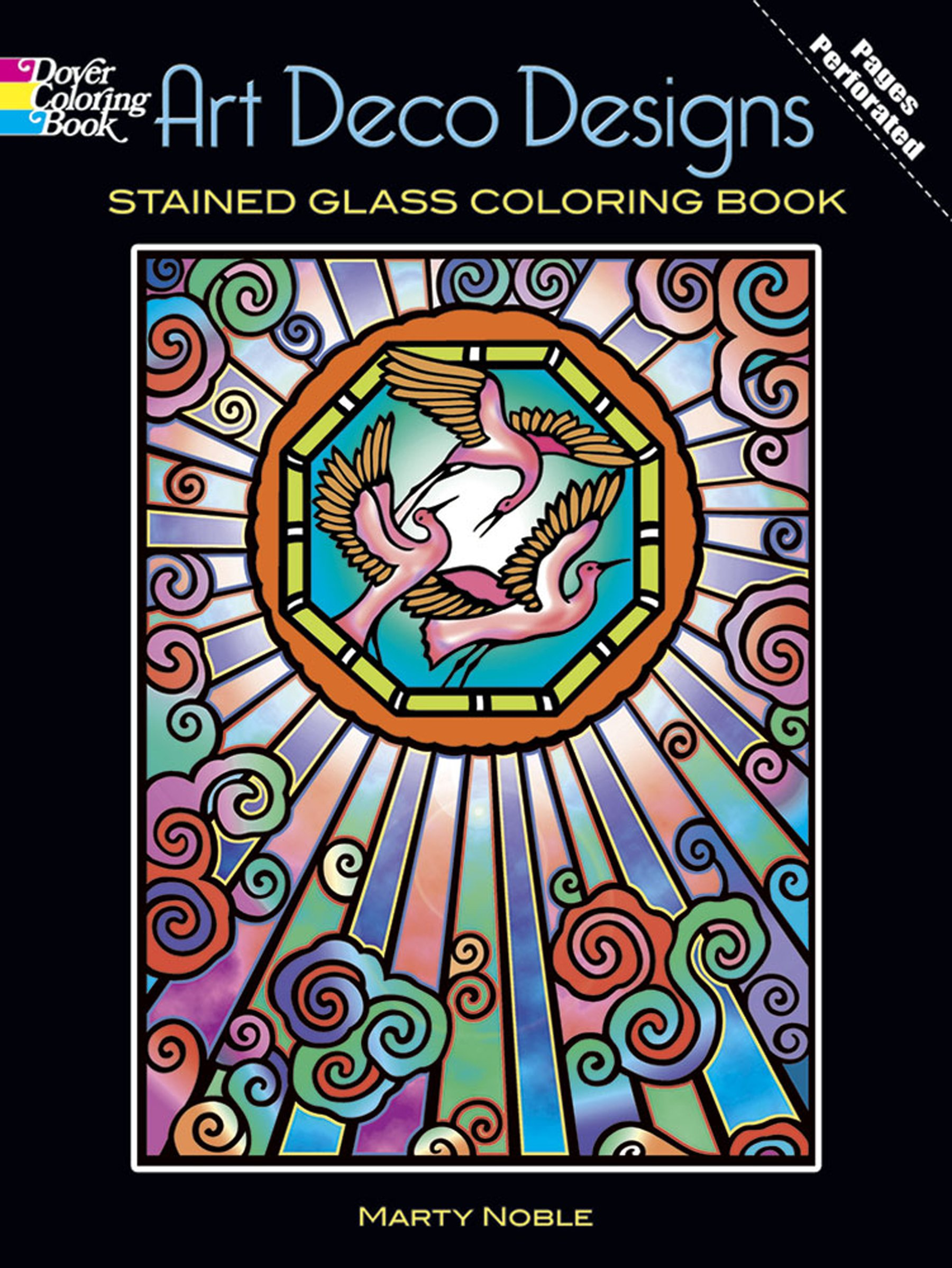 Art Deco Designs Stained Glass Coloring Book (Dover Design ...