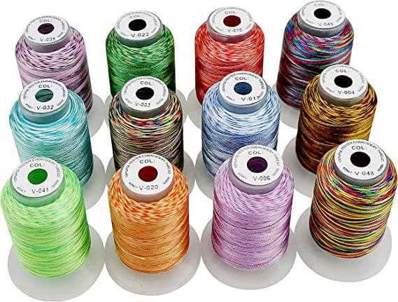 New brothread 12 Multi Colores 500M(550Y) Poliéster Bordado ...