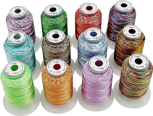 New brothread 12 Multi Colores 500M(550Y) Poliéster Bordado ...