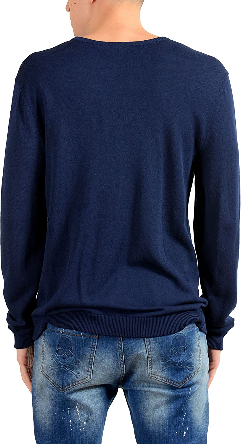 Dolce /& Gabbana Navy Knitted Mens Crewneck Sweater US S IT 48