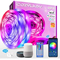 15m LED Strip Lights Compatible with Alexa, Cozylady 15m WiFi LED Light Strips,Music Sync LED Strip Light Controlled by…