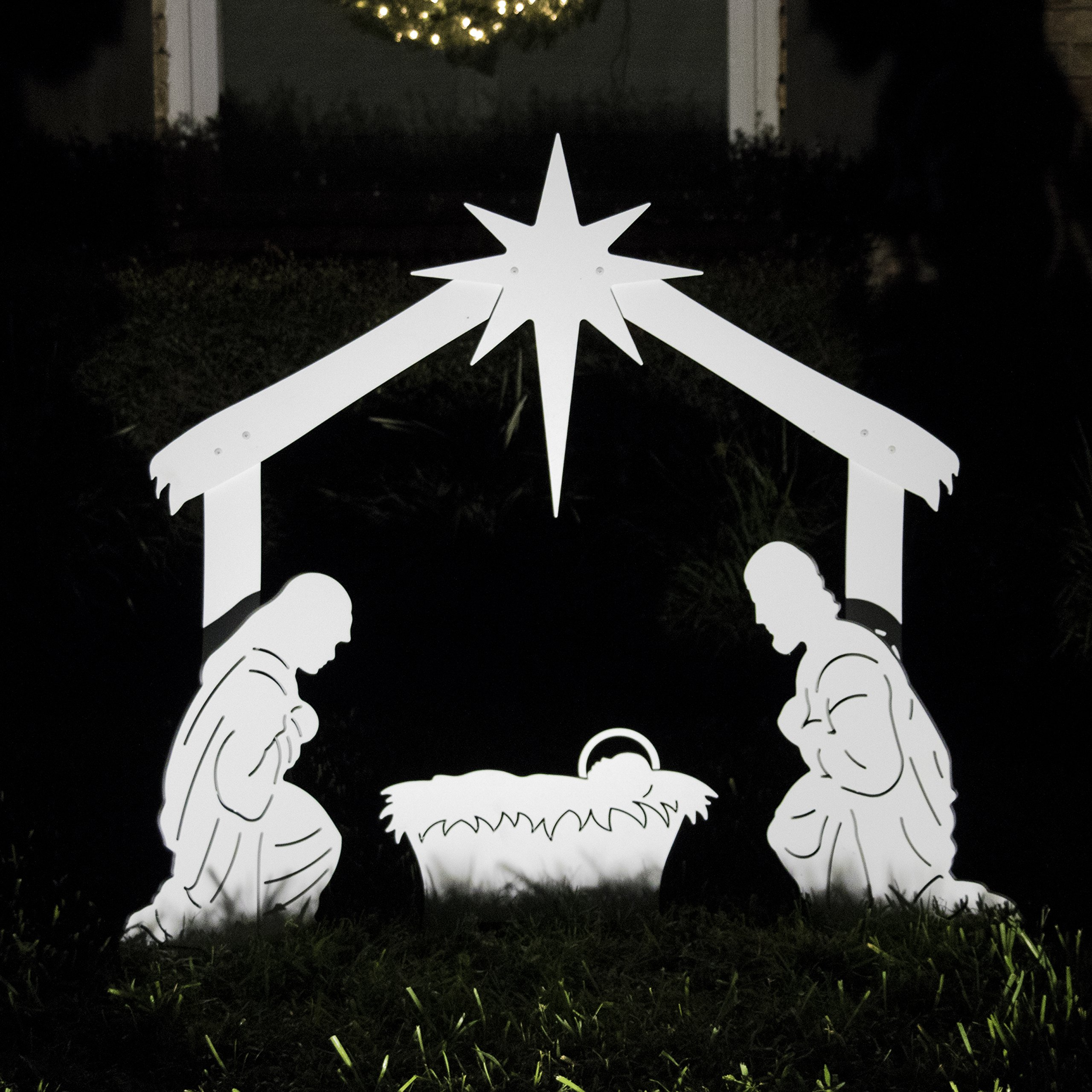 Best rated in outdoor nativity scenes helpful customer reviews teak isle outdoor nativity scene holy family yard nativity set product image solutioingenieria Gallery