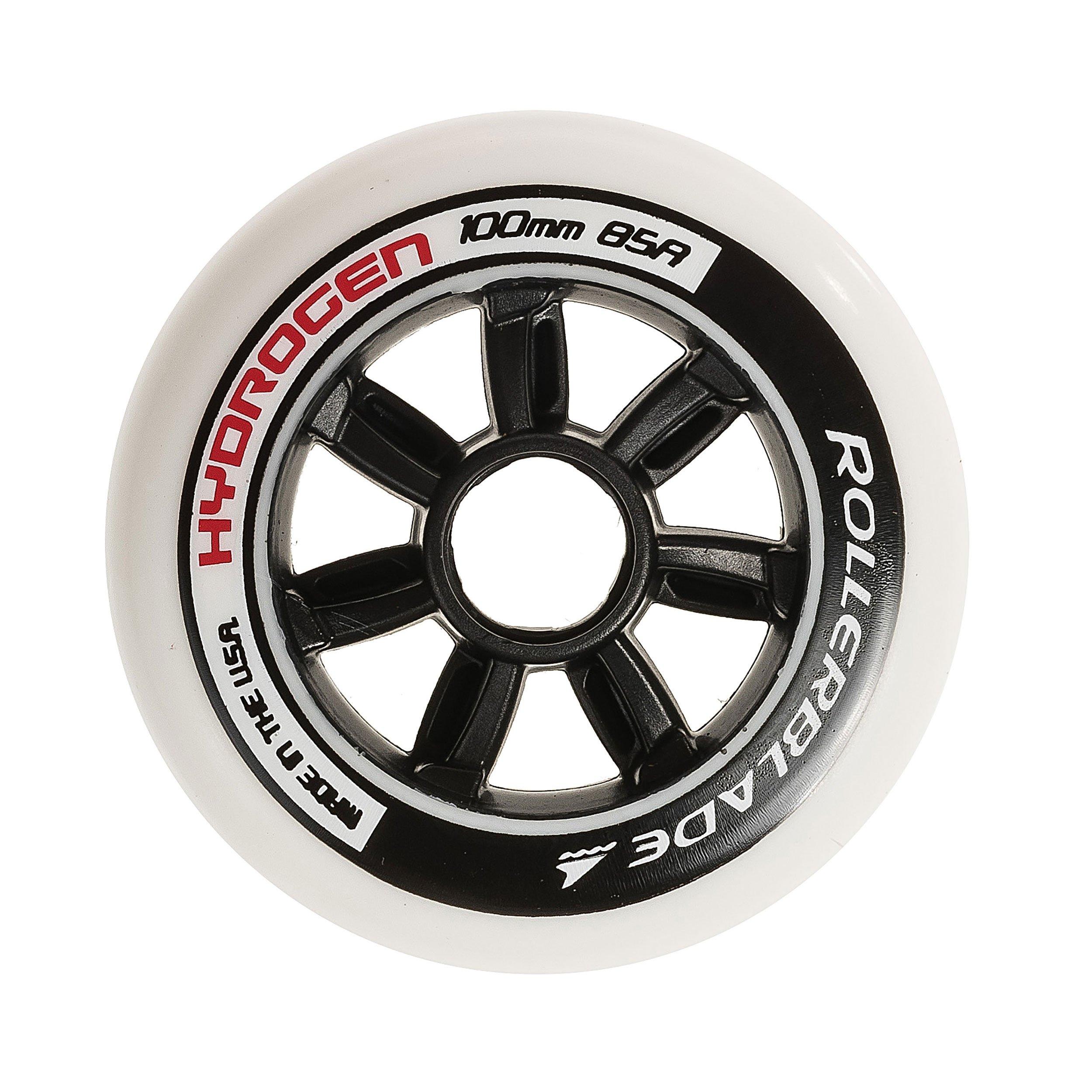 Rollerblade Hydrogen 100mm 85A Wheels, 8 Pack by Rollerblade