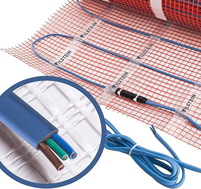 VILSTEIN/© Elektrische Fu/ßbodenheizung Thermostat TWIN Technologie Komplett-Set 4m/² - 8m lang // 0,5m breit Elektro Fu/ßboden-Heizmatte 150W//m/² f/ür Fliesen-boden Fu/ßboden-Heizsystem Elektrisch inkl