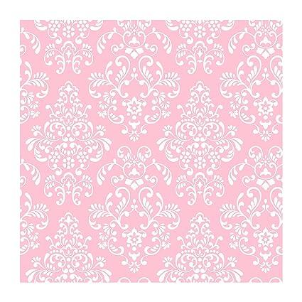 York Wallcoverings Just Kids KD1754 Delicate Document Damask Wallpaper Pink
