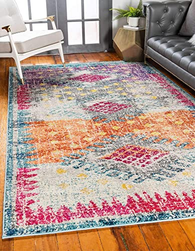 Unique Loom Vita Collection Traditional Over-Dyed Vintage Multi Area Rug 9' 0 x 12' 0