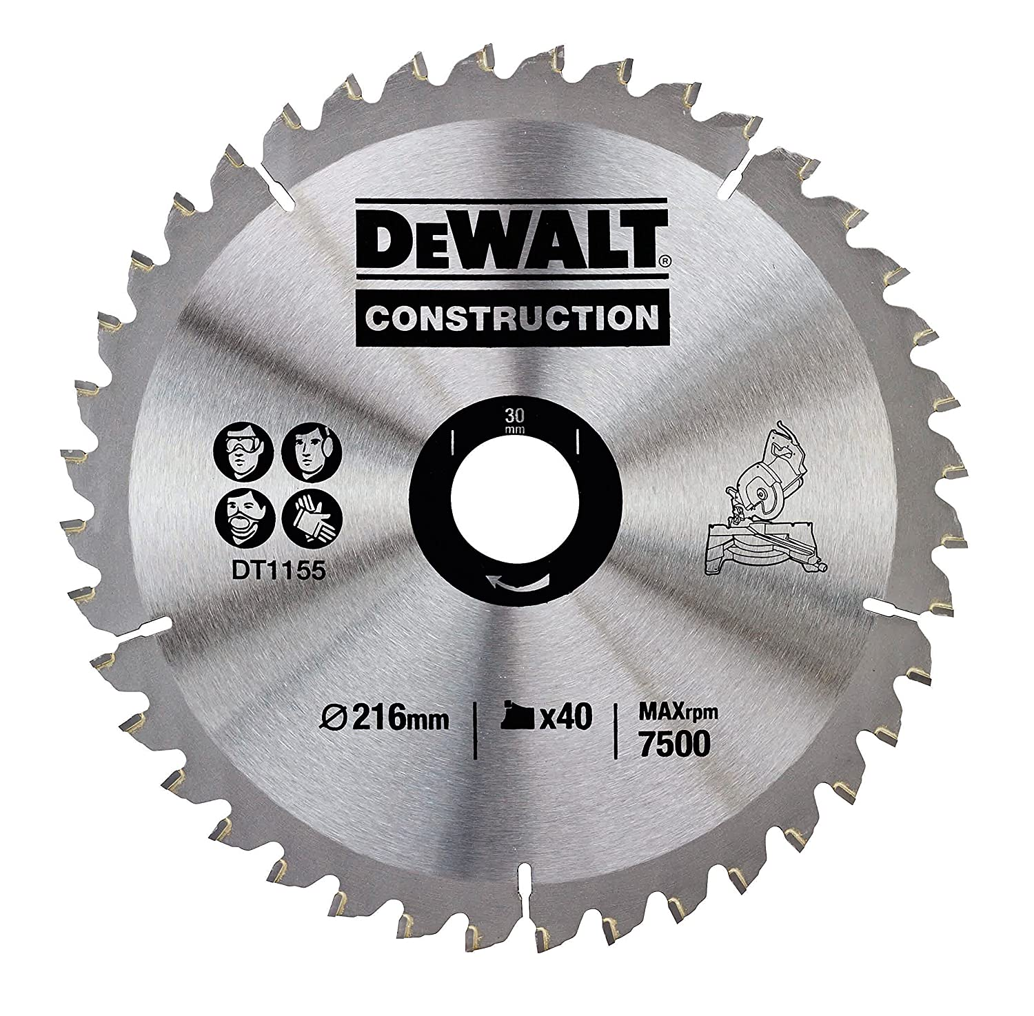 Dewalt dt1155qz 216 x 30mm x 40 tooth circular saw blade dewalt dt1155qz 216 x 30mm x 40 tooth circular saw blade construction amazon diy tools greentooth Choice Image