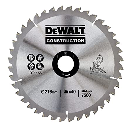 Dewalt dt1155qz 216 x 30mm x 40 tooth circular saw blade dewalt dt1155qz 216 x 30mm x 40 tooth circular saw blade construction greentooth Images