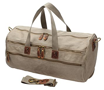 e6153f7e2e52 Image Unavailable. Image not available for. Color  Men Canvas Weekender  Overnight Bag Travel Duffle Gym ...