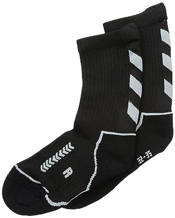 Hummel Advanced - Calcetines de deporte para hombre, tamaño 8 (32-35), color negro/gris: Amazon.es: Deportes y aire libre