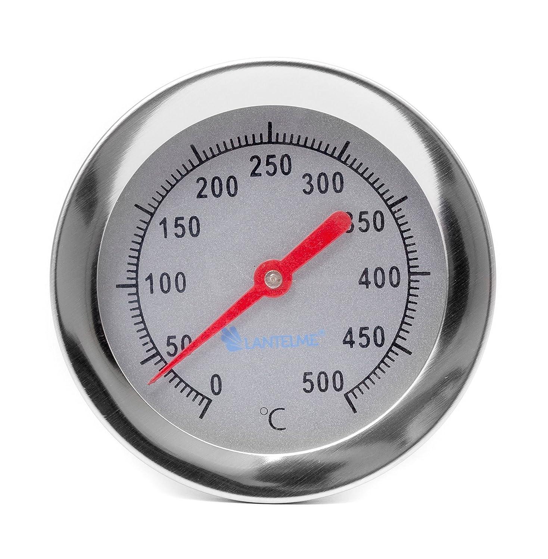 Lantelme 2098 400 °c/30 cm Madera del Horno/pizza Piedra Horno/Horno/Horno Termómetro. Analog y bimetal: Amazon.es: Jardín