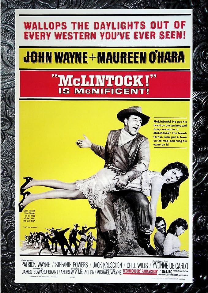 McLintock! 1963 John Wayne movie poster print