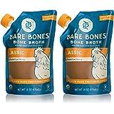 Organic Chicken Bone Broth by Bare Bones - Organic, Chicken Bone Broth, Protein/Collagen-rich, 16 oz (2-pack)