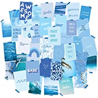 WITIBO Collage Kit for Wall Aesthetic 60 Pictures - Dreamy Blue Dorm Room Decor Collage Kit for Wall | Soft Blue Collage…