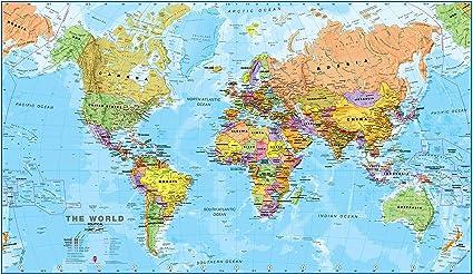 Maps International - Mappa del mondo di grandi dimensioni – Poster con  mappa del mondo politica - Laminato - 84,1 cm (larghezza) x 59,4 cm  (altezza): Amazon.it: Cancelleria e prodotti per ufficio