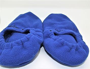 réchauffeur de pie con el perfume de la lavanda con los Zapatillas calor. Zapatillas azules Deluxe calentables en el microondas.: Amazon.es: Salud y cuidado ...