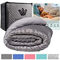 Weighted Evolution Weighted Blanket+Bonus Organic Bamboo Lyocell/Sensory Dot Cover...