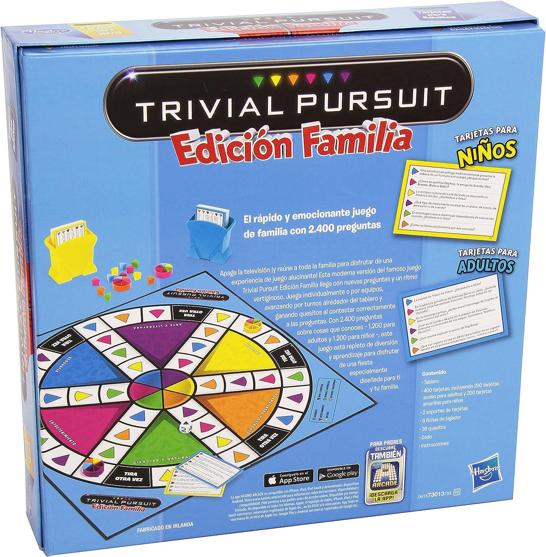 Hasbro - Juego de mesa Trivial, juego de familia (730137930 ...