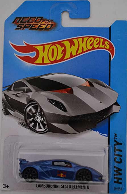 Amazon Com Blue Lamborghini Sesto Elemento Custom Made Hot Wheels