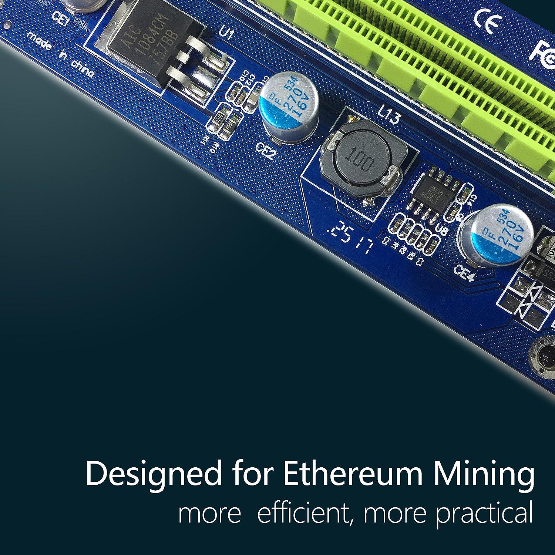 6 Pin PCI-E 1x a 16x Tarjeta de Adaptador de Riser Amplificada ...