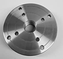 4 inch Steel Wood Lathe Face Plate, 1 inch x 8tpi Threaded