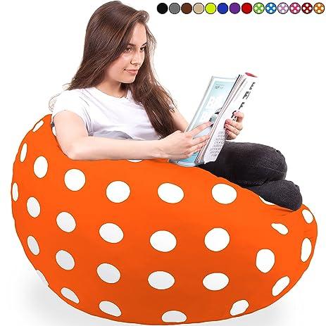Supersized Bean Bag Chair In Vibrant Orange