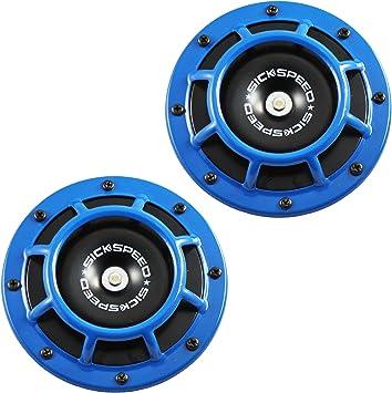 Sickspeed 2Pc Blue Super Loud Compact Electric Blast Tone Horn for Car//Truck//SUV 12V P1 for Mazda MX-5 Miata