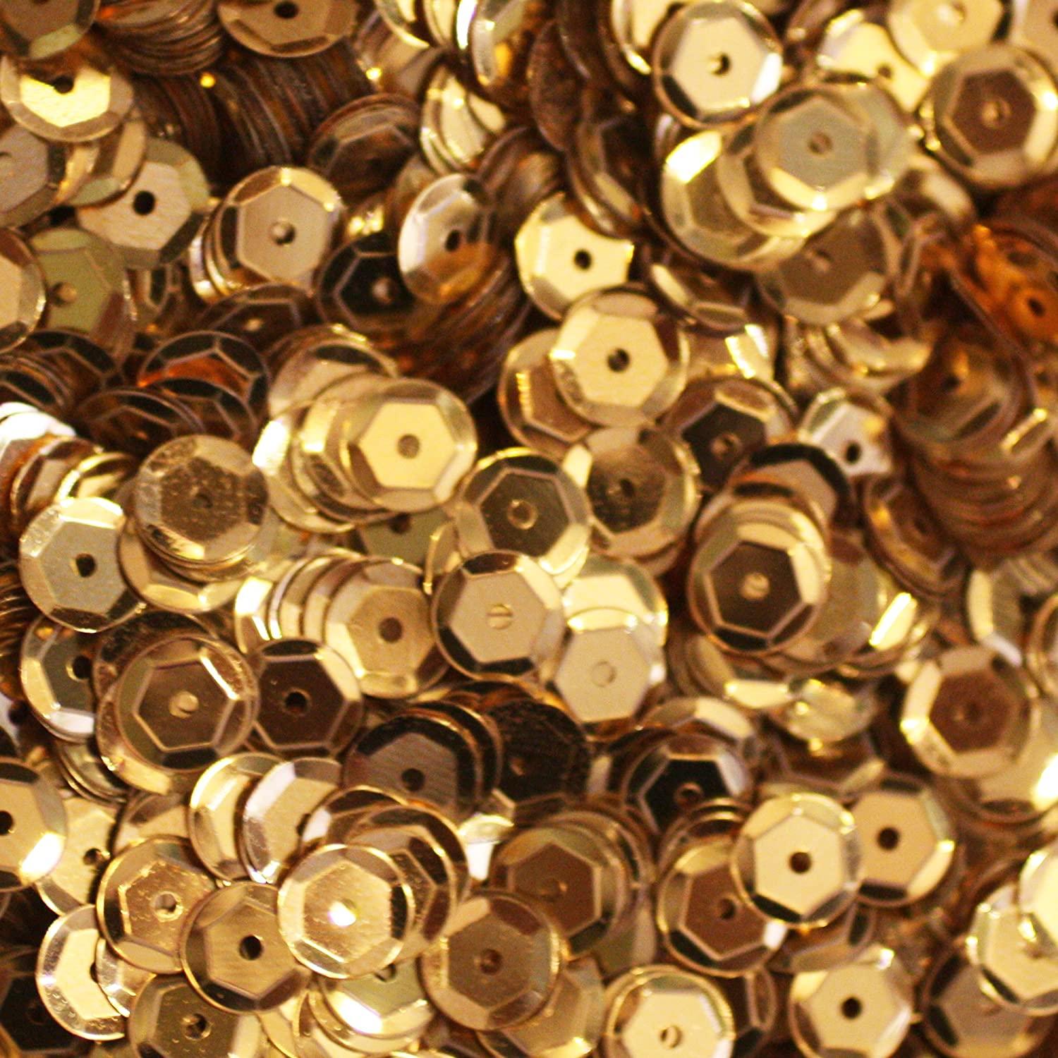 Amazon: 5mm Cup Sequins Gold Loose Sequins For Embroidery, Applique,  Arts, Crafts, And Embellishment