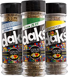 product image for DAK's Spices LEAN GREEN TRIO – Three favorite blends ideal for poultry, seafood and veggies. With 0% SALT and 0% MSG! FREEDOM from Salt, Low Salt, Low Sodium! All natural, 100% MSG and Sodium Free!