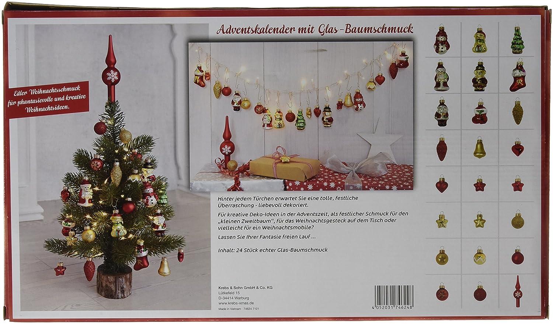 Fesselnd Amazon.de: Heitmann DECO Krebs U0026 Sohn Adventskalender Mit Christbaumschmuck    24 Teiliges Set Aus