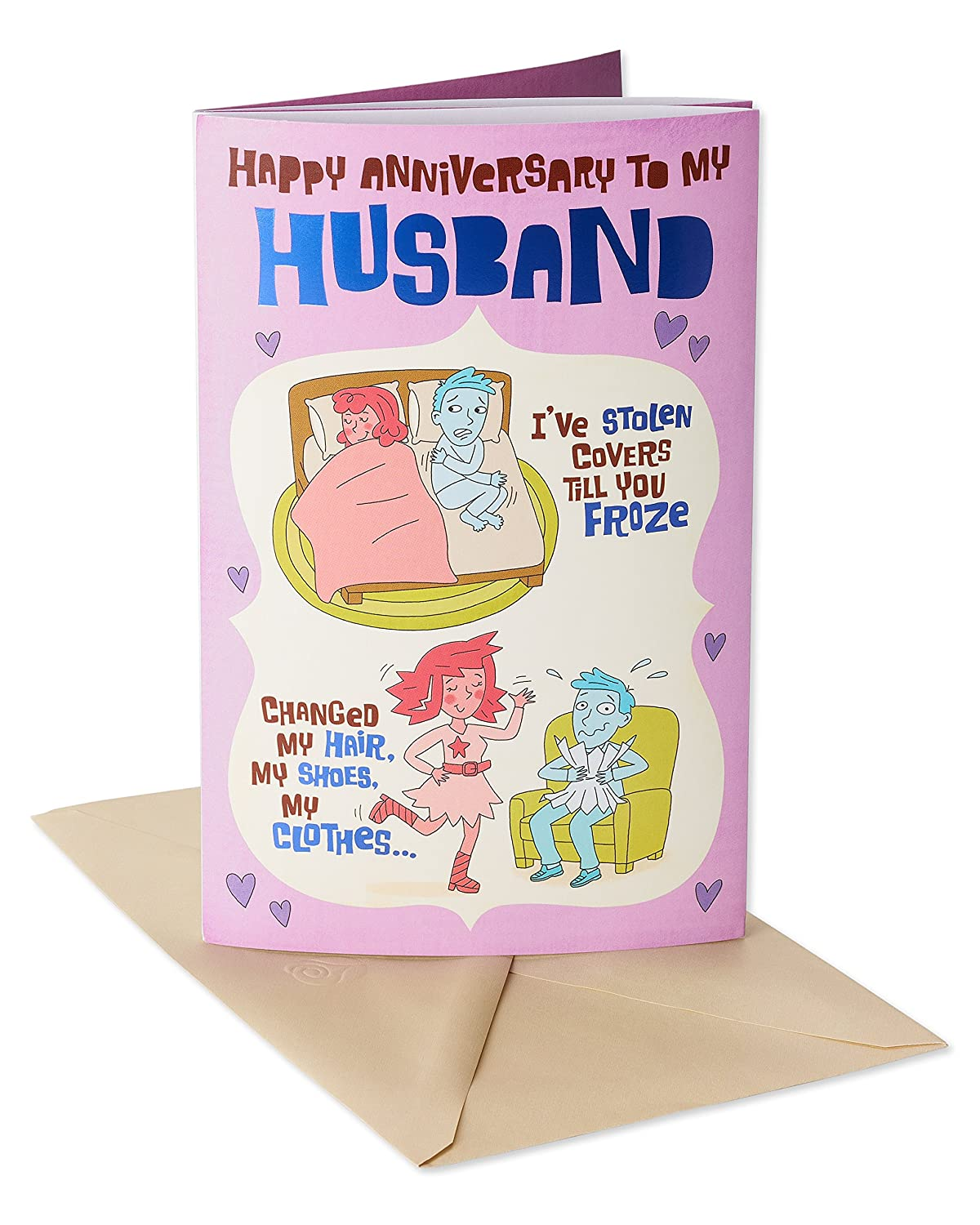 Amazon American Greetings Funny Anniversary Card For Husband