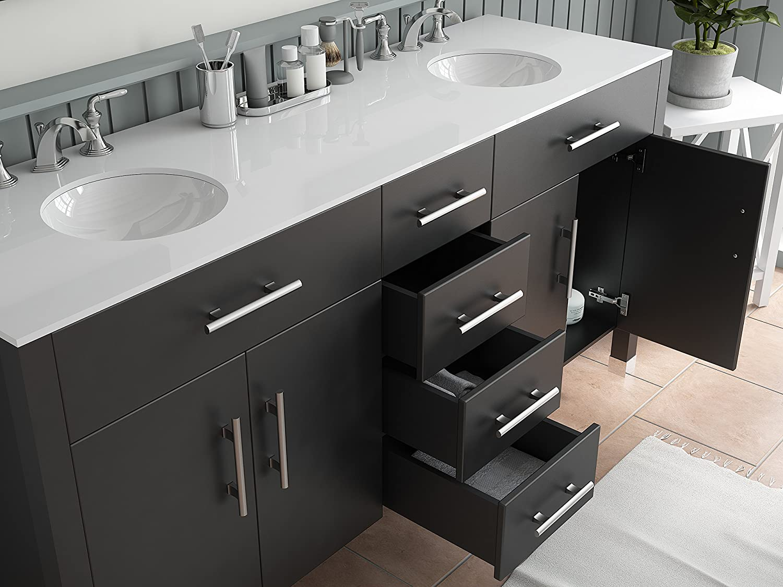 Amazon.com: 72 Inch Espresso Double Basin Sink Bathroom Vanity Set ...