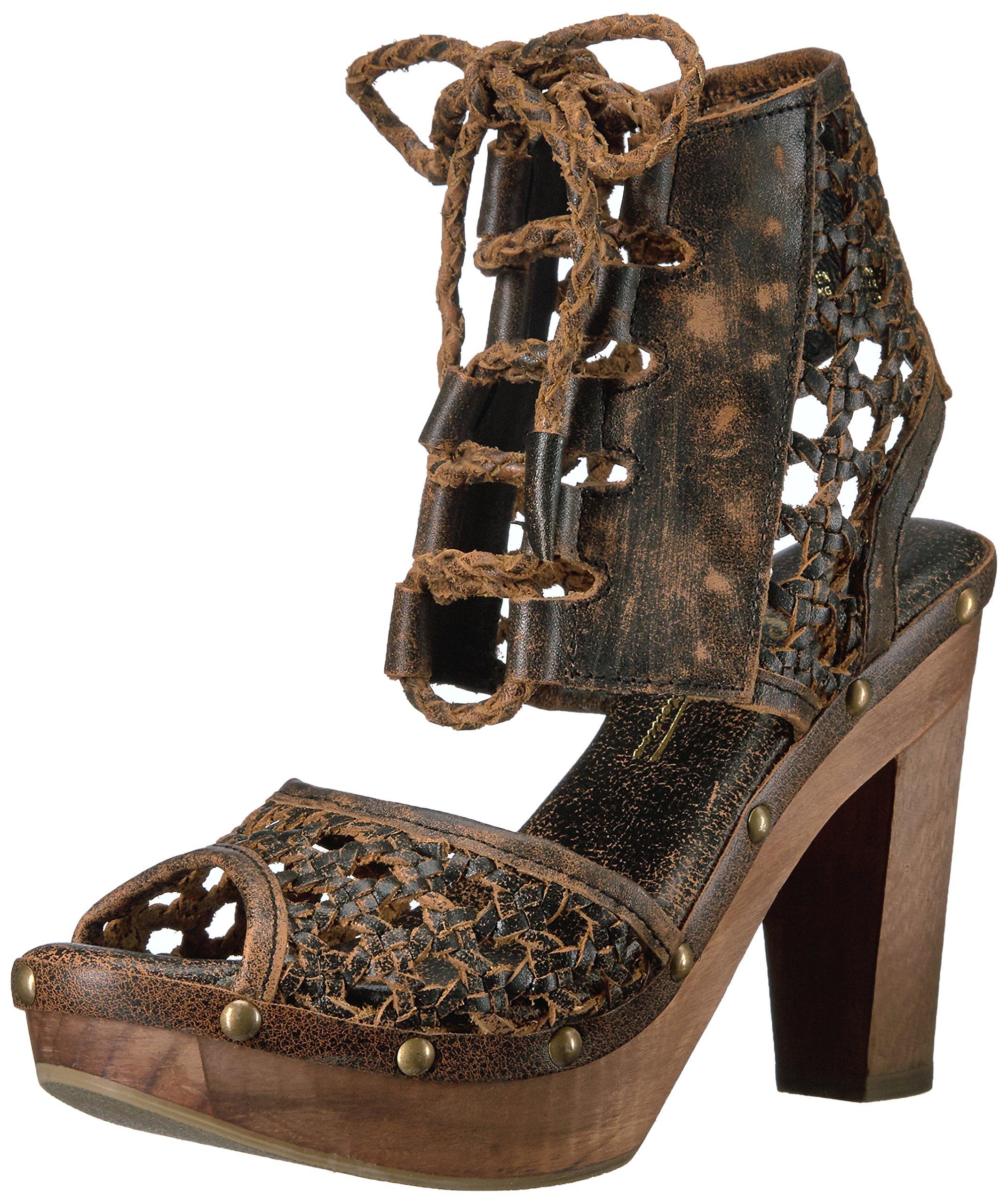 Sbicca Women's Tinley Heeled Sandal, Brown, 8 B US