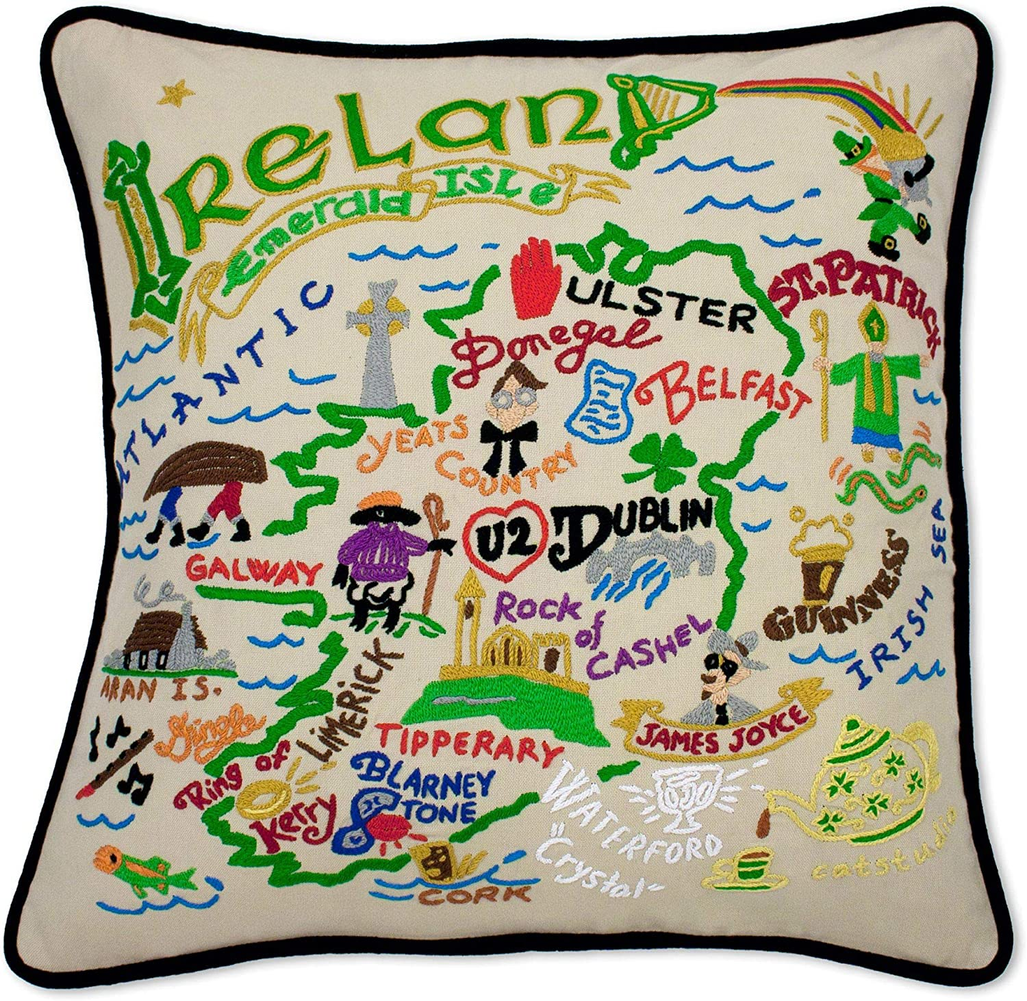 Catstudio Now free shipping Ireland Embroidered Decorative Throw 40% OFF Cheap Sale Pillow