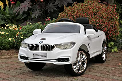 Amazon Com First Drive Bmw 4 Series White 12v Kids Cars Dual