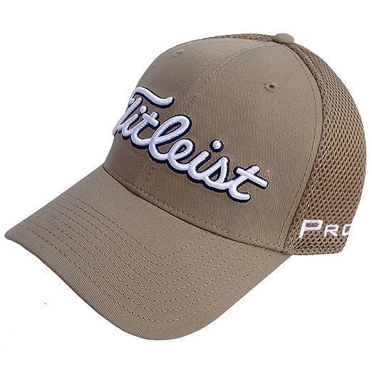 1d8e5fe874e Titleist New 2015 Sports Mesh Structured Fitted Hat FJ Pro V1 Color Khaki  SIZE  S M  Amazon.co.uk  Sports   Outdoors