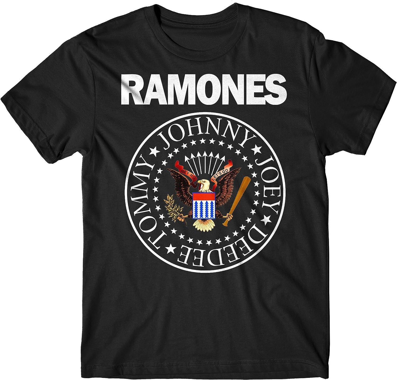 LaMAGLIERIA Camiseta Hombre Ramones - Classic Colors Logo Camiseta Rock 100% algodòn