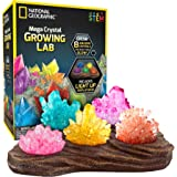 National Geographic Mega Crystal Growing Lab – 8 Colors to Grow with Night Light Display Stand!