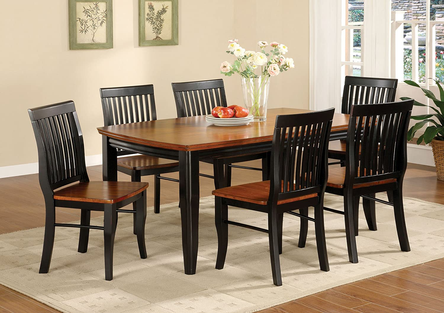 Beautiful Amazon.com   Furniture Of America Charleston Mission Style Rectangular Dining  Table, Antique Black And Oak   Tables